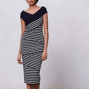 Bailey 44 Frenchstripe Column Dress XS
